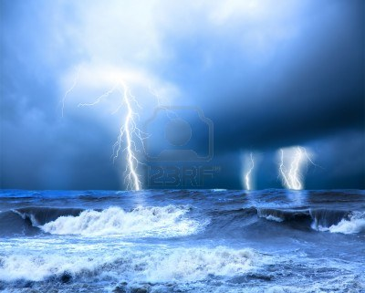 14694093-storm-and-thunder-on-the-sea